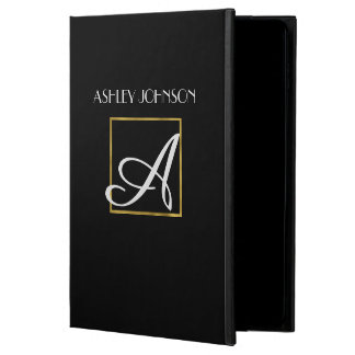 Gold Monogram iPad Cover for High School | College