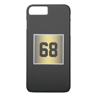 gold monogram iPhone 7 plus case
