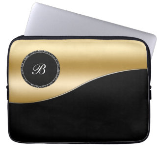 Gold Monogram Laptop Case