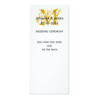 Gold Monogram Names Wedding Programs