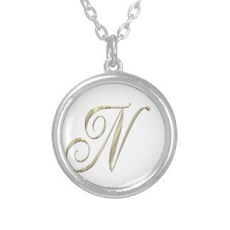 Gold monogram Ni initials merchandise Necklaces