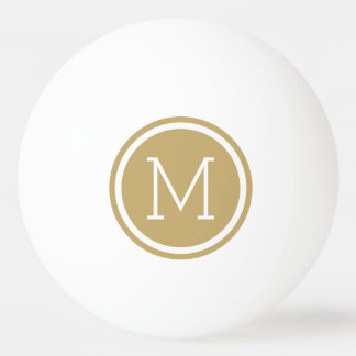 Gold Monogram Personalized Ping Pong Balls