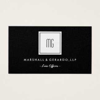 Gold Monogram Professional Offices Business Card