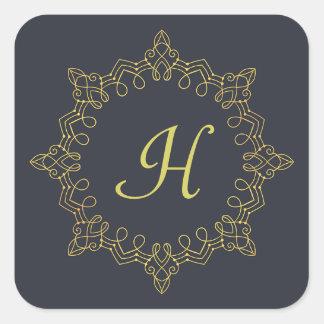 Gold Monogram Sticker