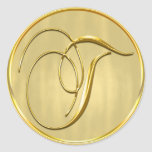 Gold Monogram T Seal