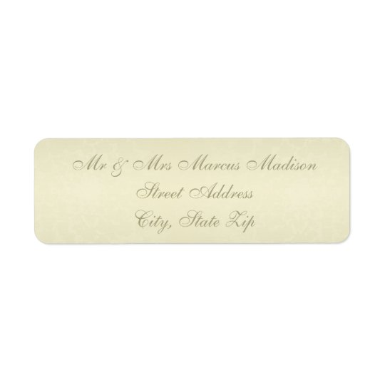 Gold Monogram Wedding Return Address Label