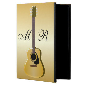 Gold Monogrammed Acoustic Guitar iPad Air Cover