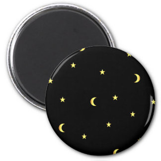 Gold Moon and Stars Magnet