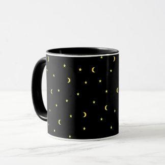 Gold Moon and Stars Mug
