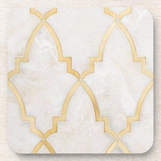 Gold Morracan Marble Coaster