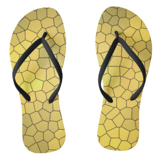 Gold Mosaic Design Fun Thongs