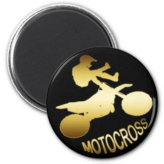 GOLD MOTOCROSS MAGNET