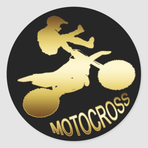 GOLD MOTOCROSS STICKERS