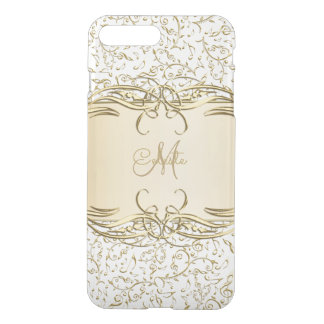 Gold Music Notes Monogram iPhone 7 Case