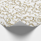 Gold Music Notes On Custom Colour Wrapping Paper