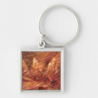 Gold n Copper Sheet :  Lotus Engraved Design Key Ring