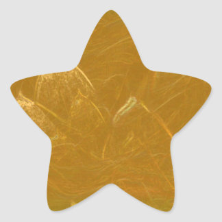 Gold n Copper Sheet :  Lotus Engraved Design Star Sticker