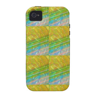 Gold n Green Wave Jewel Pattern GIFTS FUN Birthday iPhone 4 Cover