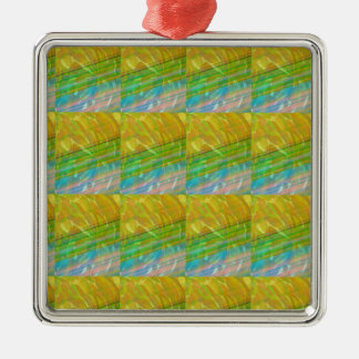 Gold n Green Wave Jewel Pattern GIFTS FUN Birthday Christmas Tree Ornaments