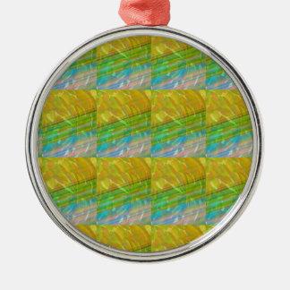 Gold n Green Wave Jewel Pattern GIFTS FUN Birthday Christmas Ornament