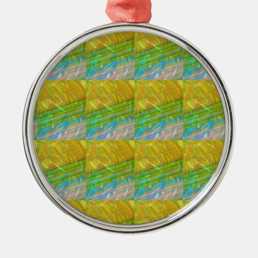 Gold n Green Wave Jewel Pattern GIFTS FUN Birthday Christmas Ornament