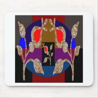 Gold n Silver Jewels: Engraved Embroidered Look Mouse Pad