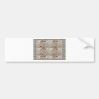 Gold n white fashion accessory diy add text image bumper sticker