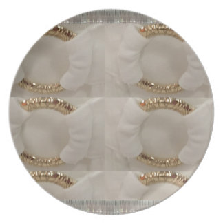 Gold n white fashion accessory diy add text image dinner plates