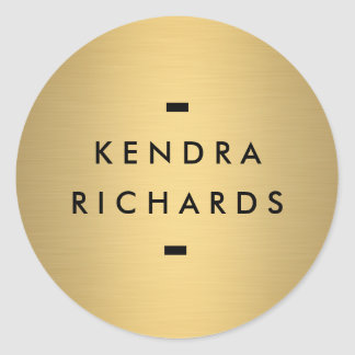 Gold Name Logo Sticker