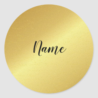 Gold Name Tag Sticker