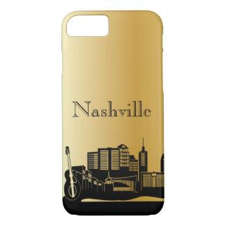 Gold Nashville Silhouette Phone Cases