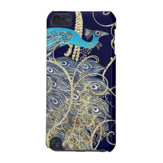 Gold Navy Black Peacock Swirl iTouch Case iPod Touch 5G Cases