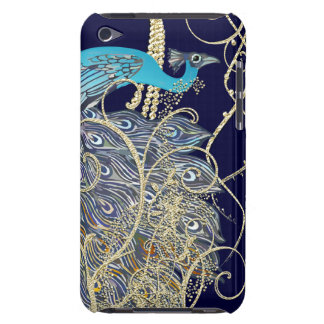 Gold Navy Black Peacock Swirl iTouch Case iPod Touch Cases
