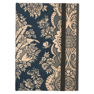 Gold Navy Floral Filigree Pattern Fancy Design iPad Air Case