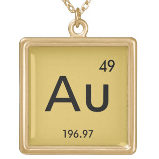 Gold periodic table gifts on zazzle au gold necklace urtaz Images