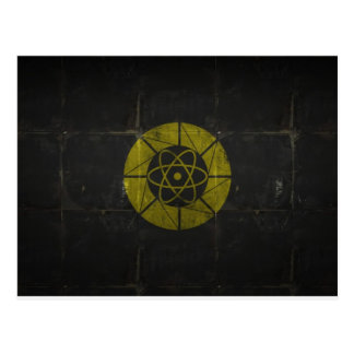 Gold Nuclear Postcard