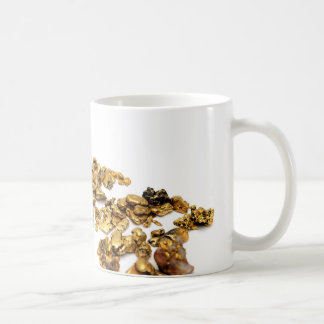 Gold Nuggets On White Mugs