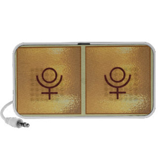 Gold Obsession: Astronomy, Zodiac, SpaceCrafts Notebook Speaker