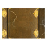 Gold & Old Book Cover Pack Of Chubby Business Cards
