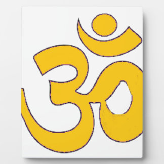 gold om aum sanskrit mantra ,symbol ,Shape of Aum Display Plaque