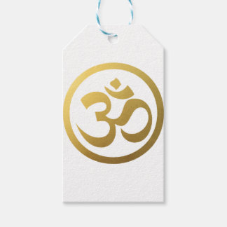 gold om gift tags