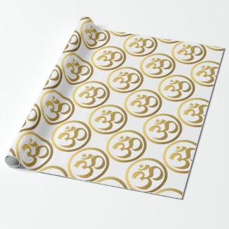 gold om wrapping paper