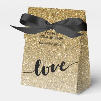 Gold Ombre Glitter Love Favour Box