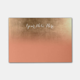Gold Ombre Personalized Notepad with Custom Color