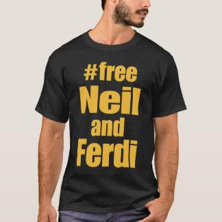 Gold on Black Free Neil and Ferdi tshirt
