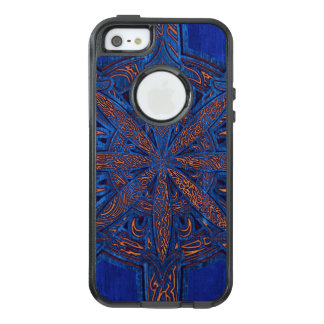 Gold on Blue Chaos OtterBox iPhone 5/5s/SE Case
