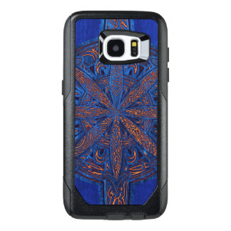 Gold on Blue Chaos OtterBox Samsung Galaxy S7 Edge Case