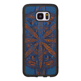 Gold on Blue Chaos Wood Samsung Galaxy S7 Edge Case
