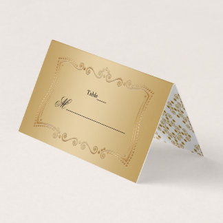 Gold on Gold Ornate Elegance Wedding Collection Place Card