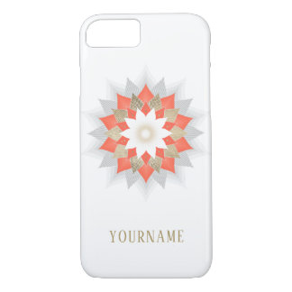 Gold & Orange Lotus Flower Mandala Elegant iPhone 8/7 Case